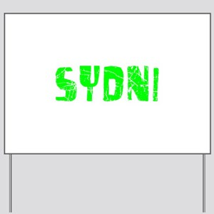 Sydni Faded (Green) Yard Sign